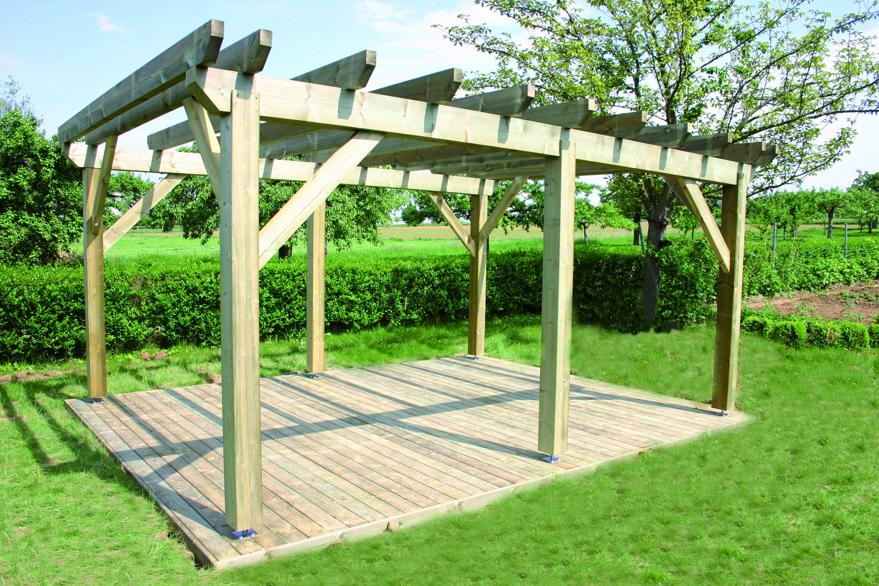 Fabricant alsacien de terrasse bois, au sol et sur poteaux, garde