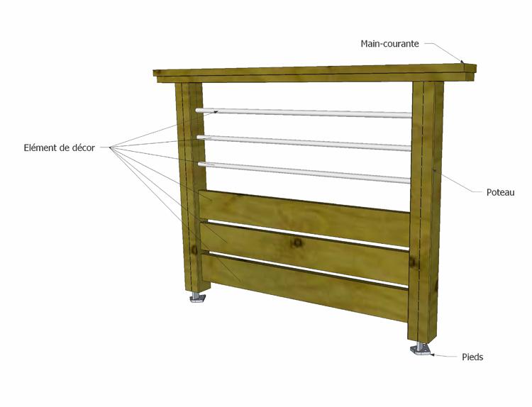 Fabricant alsacien de terrasse bois au sol et sur poteaux garde corps ramb - Construire garde corps ...